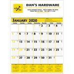 Custom 2019 Commercial Planner Wall Calendar - Yellow & Black