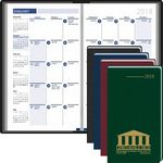 Custom 2018 Monthly Format in Vinyl Jacket Planner (3 1/2