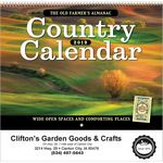 Custom 2018 The Old Farmer's Almanac Country Spiral Calendar
