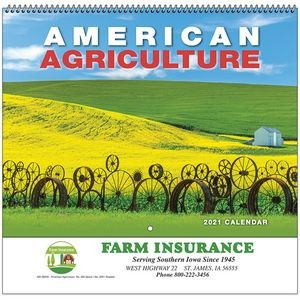American Agriculture Wall Calendar - Spiral - 2021