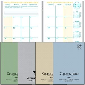 2020 Academic Desk Monthly Planner w/ Printed Weave Cover