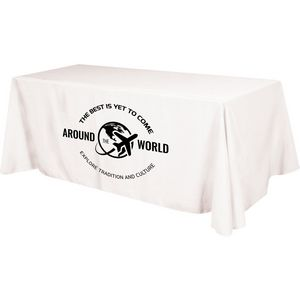4 Sided Budget Polyester Screen Printed Table Cover (Fits 6 Table)