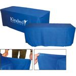 Custom Convertible Polyester Table Cover w/ 4 Side Coverage (6' to 8' Table)