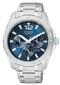 Custom Citizen Men's Blue Dial Silver-Tone Bracelet Watch