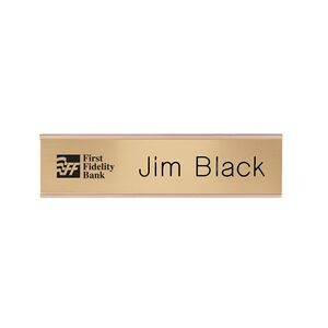"Engraved Desk & Wall Name Plate (8""x2"")"