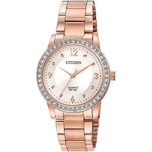 Ladies' Quartz Watch, Pink Gold-Tone with Pink Gold-Tone SS Bracelet