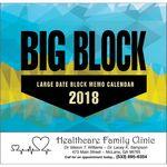Custom 2018 Big Block Stapled Calendar