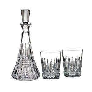 Waterford Lismore Diamond Decanter and DOF Pair Gift Set