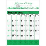 Custom 2019 Commercial Planner Wall Calendar - Green & Black