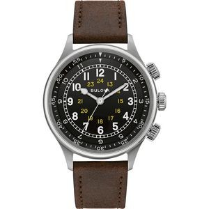 Bulova Watches Men's Brown Leather Strap - A-15 Pilot
