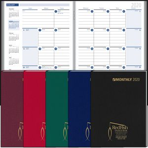 2018 Ruled Monthly Format Stitched to Cover Desk Planner