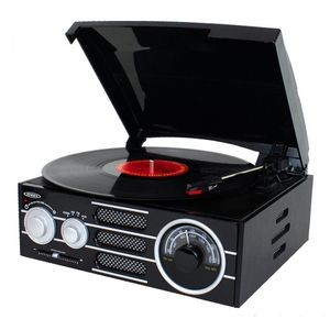 Jensen 3-Speed Turntable with AM/FM Stereo Radio