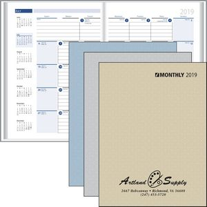 2018 Monthly Format Stitched to Paper Cover Planner