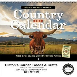2020 The Old Farmer's Almanac Country - Spiral