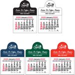 Custom 2018 Vinyl Adhesive Mini Stick Calendar w/ Small Circle Header