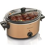Custom Hamilton Beach Stay or Go 6 Quart Slow Cooker - Copper