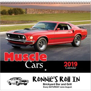 2019 Muscle Cars Wall Calendar - Spiral