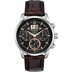Bulova Watches Men's Strap Watch from the Sutton Big Date Collection