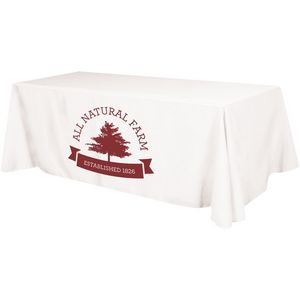 4 Sided Budget Polyester Screen Printed Table Cover (Fits 8 Table)
