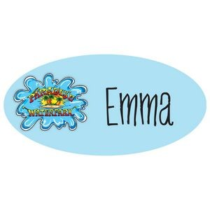 "Budget Reusable Oval Name Badge (3""x1 1/2"")"