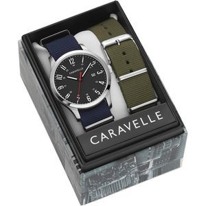 Caravelle Men's Watch with Two Interchangable Straps
