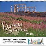 Custom 2018 World Scenic Spiral Calendar
