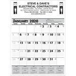 Custom 2019 Commercial Planner Wall Calendar - Grey & Black