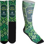 Custom Men's Full Color Crew Promo Socks with Black Heel & Toe