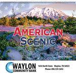 Custom 2018 American Scenic Spiral Wall Calendar