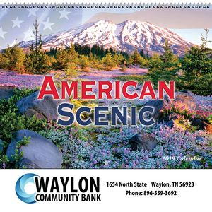 2019 American Scenic Wall Calendar - Spiral