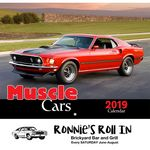 Custom 2018 Muscle Cars Stapled Wall Calendar
