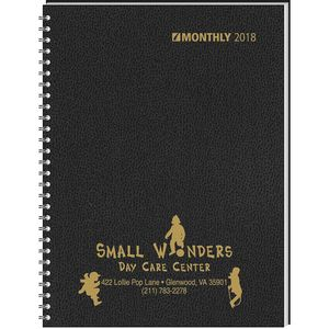 2018 Monthly Format Wired to Two-Piece Cover Desk Planner (7 7/8x11 7/8)