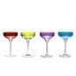 Waterford Crystal Mixology Color Coupes Glasses (Set of 4)