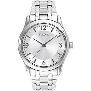 Bulova Corporate Collection Men's Watch w/ Round Silver Dial