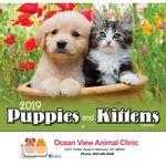 Custom 2018 Puppies & Kittens Stapled Wall Calendar