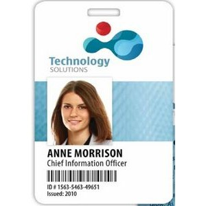 "Minneapolis Vertical Plastic Name Badge (2 1/8""x3 3/8"")"