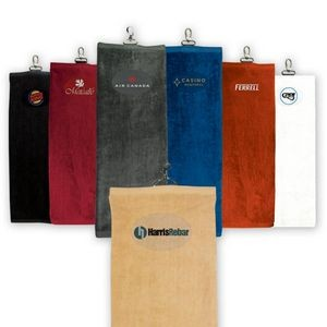 Tri-fold Golf Towel - Embroidered