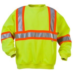 "High Visibility Sweatshirt with 4"" Contrasting Stripes"