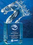 Custom Crystal Stallion Award