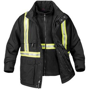 Men's Explorer 3-In-1 Reflective Jacket w/ Hood