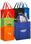Custom Custom 13W x 15H Assorted Colors Reusable Grocery Tote Bags