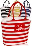 Custom Striped Mariner Tote Bag