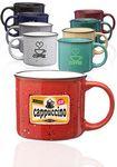 Custom 13 Oz. Ceramic Campfire Coffee Mugs