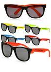 Custom Imprinted Plastic Sunglasses in Assorted Colors