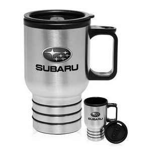 16 Oz. Stainless Steel Travel Mugs with Handle
