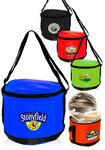 Custom Round Polyester Cooler Bag