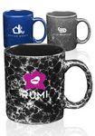 Custom 11 oz Bran Marble Coffee Mugs