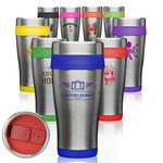 Custom 16 Oz. Insulated Two Tone Travel Tumbler