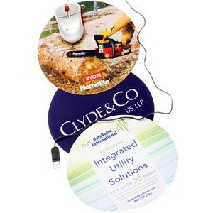 "Round Mouse Pad (8"" Diameter x 1/8"" Thickness)"