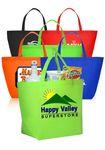 Custom Custom Non-Woven Shopper Tote Bags Assorted Colors
